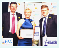 Dr Samantha Price Holding HSA Excellence Through People Award