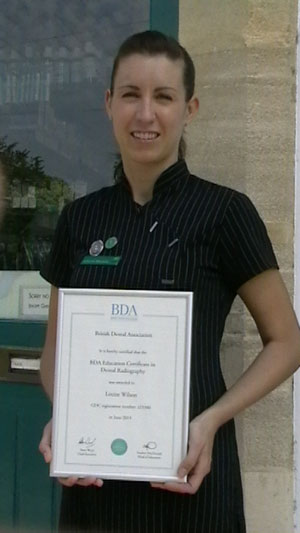Louise Sleep Holding Radiography Qualification