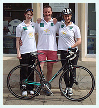 Romsey Dental Team Posing With Bicycle