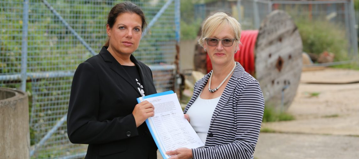 Old Brewery site petition 2016 - Samantha Price and Caroline Nokes