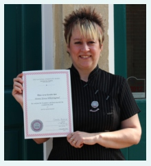 Donna Whettingsteel Holding Dental Radiography Certificate