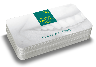 Romsey Dental Care Loyalty Card